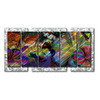 All My Walls 5-ft 2.5-in W x 32-in H Abstract Art on Metal Wall Art