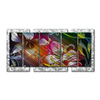 All My Walls 62.5-in W x 33-in H Frameless Metal Floral Sculpture Wall Art