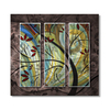 All My Walls 31.5-in W x 29-in H Frameless Metal Floral Sculpture Wall Art