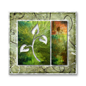 shop all my walls w x 29 in h botanical metal