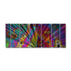 All My Walls 48-in W x 11-ft 6-in H Abstract Art on Metal Wall Art