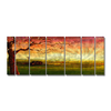 All My Walls 102-in W x 36-in H Frameless Metal Landscapes Sculpture Wall Art