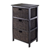 Winsome Wood Omaha Black 3-Shelf Office Cabinet