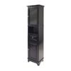 Winsome Wood Alps Black 4-Shelf Office Cabinet