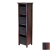 Winsome Wood Verona Antique Walnut 4-Shelf Office Cabinet