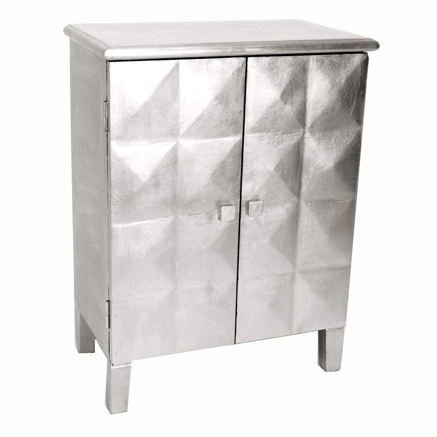 Shop Wayborn Furniture Silver Leaf 2 Shelf Office Cabinet At