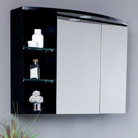 shop fresca 31 1 2 in w lights recessed medicine cabinet at. Black Bedroom Furniture Sets. Home Design Ideas