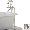 Cheviot Brushed Nickel 3-Handle Tub and Shower Faucet with Single-Function Showerhead