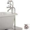 Cheviot Polished Nickel 3-Handle Tub and Shower Faucet with Single-Function Showerhead