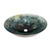 Legion Furniture 5-in D Glass Round Vessel Sink