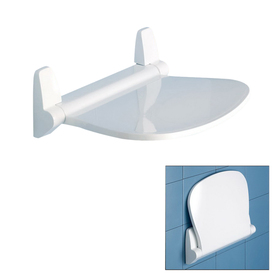 Nameeks White Plastic Wall Mount Shower Seat