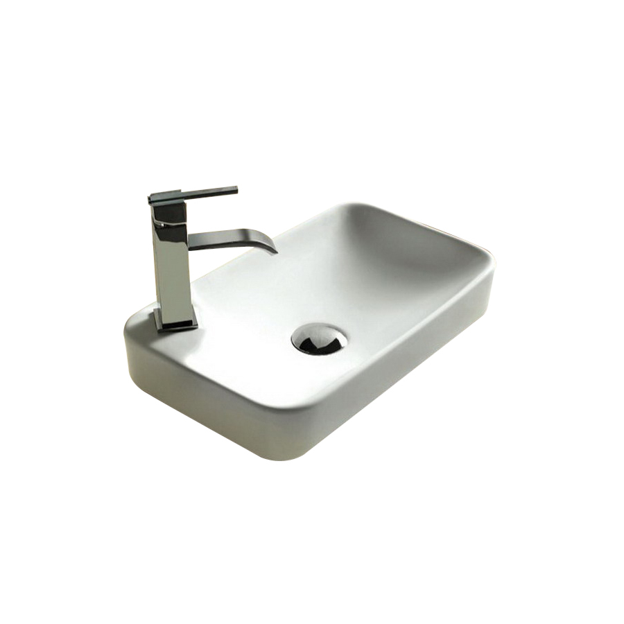 ... Nameeks Ceramica White Porcelain Rectangular Vessel Sink at Lowes.com