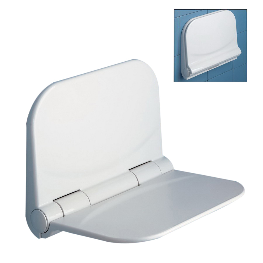 Shop Nameeks White Plastic Wall Mount Shower Seat At