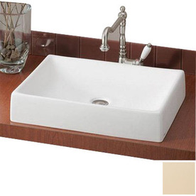 Shop Cheviot Quattro 4 In D Biscuit Vitreous China Rectangular Vessel Sink At