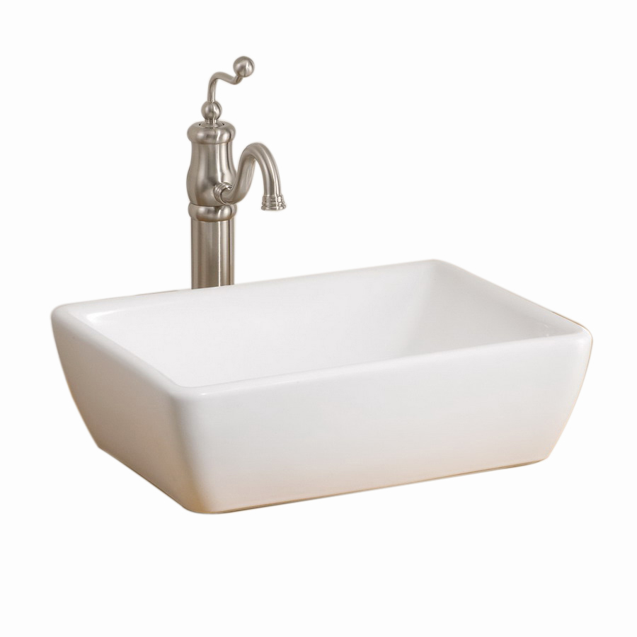 Vessel Sinks Lowes : ... in D White Vitreous China Rectangular Vessel Sink at Lowes.com