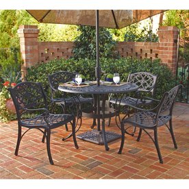 Home Styles 5-Piece Biscayne Mesh-Seat Aluminum Patio Dining Set