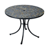 Home Styles Stone Harbor 39.5-in x 39.5-in Steel Round Patio Dining Table