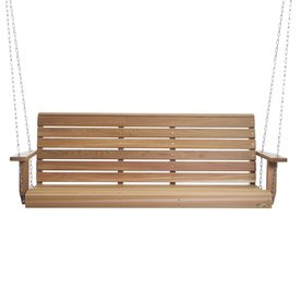 All Things Cedar 3-Seat Wood All Things Cedar Natural Unstained Porch Swing