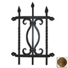 Agave Ironworks Brown Rust Vertical Bar Twist Grille