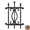 Agave Ironworks Red Rust Round Bar Fancy Grille