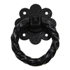 Gatemate Powder Coated Black Antique Ironmongery Ring Pull