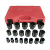 K Tool International 19-Piece 1/2-in Standard 6-Point Impact Socket Set