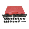 K Tool International 42-Piece 3/8-in Standard/Metric 6-Point Impact Socket Set