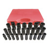 K Tool International 26-Piece 1/2-in Metric 6-Point Impact Socket Set