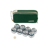 Jaques London Outdoor 6-Boules Polished Metal Set Portable Party Game