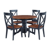 Home Styles Cottage Oak/Black Dining Set