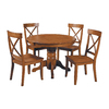 Home Styles Cottage Oak Dining Set with Round Dining Table