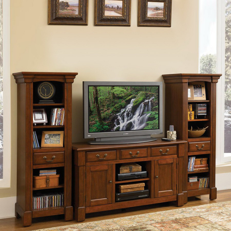 Shop Home Styles Aspen Rustic Cherry Television