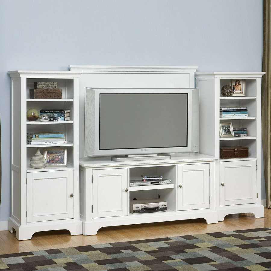 Shop home styles naples white television entertainment Home entertainment center