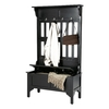 Home Styles Black Indoor Hall Tree Bench
