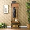 Boston Loft Furnishings Mission Oak 4-Hook Indoor Hall Tree