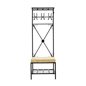 Southern Enterprises Black 6-Hook Coat Stand
