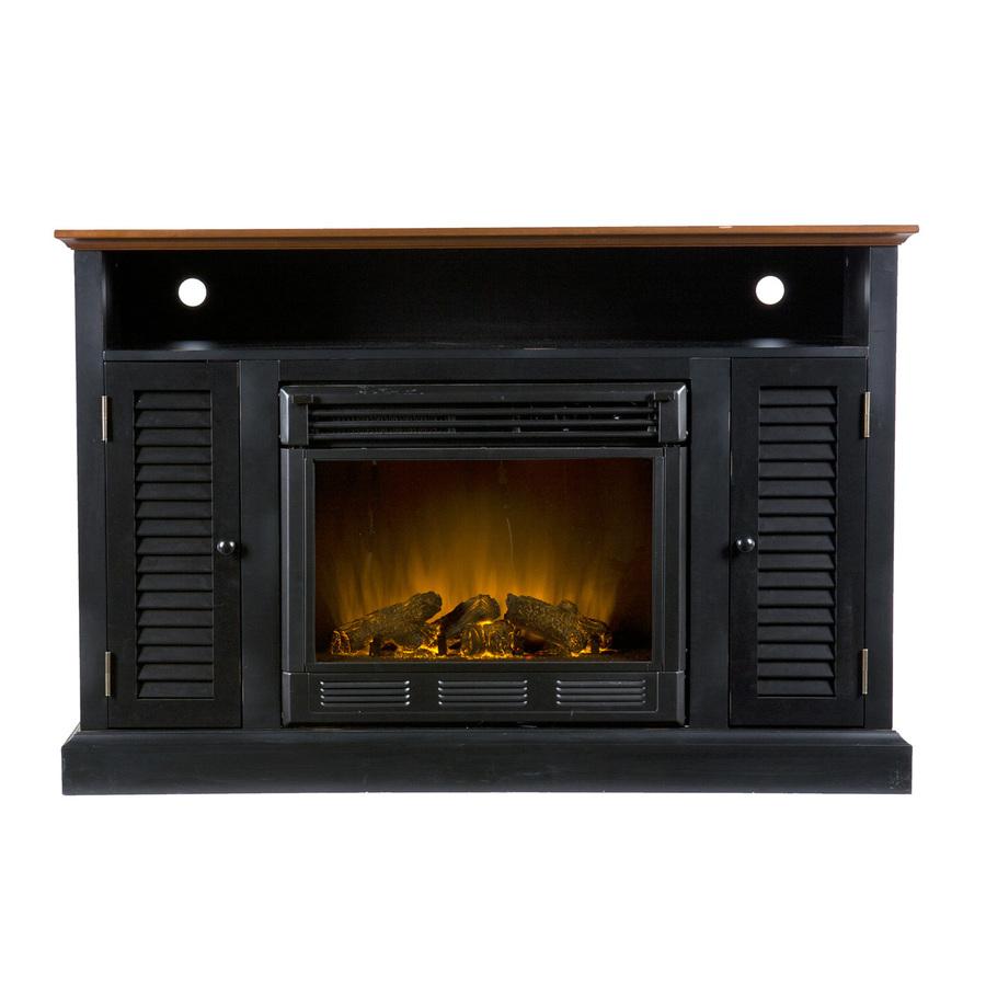 shop boston loft furnishings 48 in w black and walnut wood