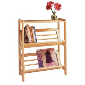 Winsome Wood Natural 24-in W x 30-in H x 10-in D 2-Shelf Bookcase