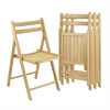 Winsome Wood Set of 4 Wood Standard Folding Chair