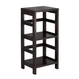 Winsome Wood Leo Dark Espresso 29.25-in 2-Shelf Bookcase