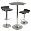 Winsome Wood Rossi Black and Chrome Dining Set