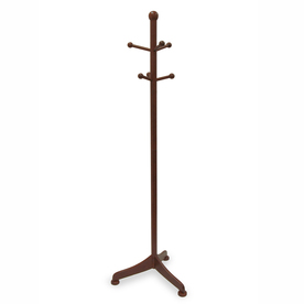 Winsome Wood Antique Walnut 6-Hook Coat Stand
