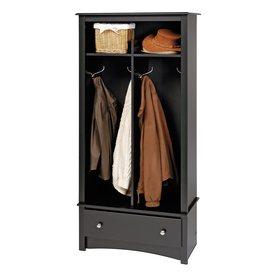 Prepac Furniture Black 4-Hook Coat Stand