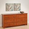Prepac Furniture Monterey Cherry 6-Drawer Dresser