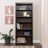 Prepac Furniture Espresso 31.5-in W x 77-in H x 13-in D 6-Shelf Bookcase