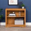 Prepac Furniture Oak 31.5-in W x 29-in H x 13-in D 2-Shelf Bookcase