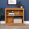 Prepac Furniture Oak 31.5-in W x 29-in H x 13-in D 2-Shelf Bookcase