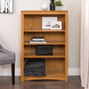 Prepac Furniture Oak 31.5-in W x 48-in H x 13-in D 4-Shelf Bookcase
