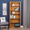 Prepac Furniture Oak 77-in 6-Shelf Bookcase