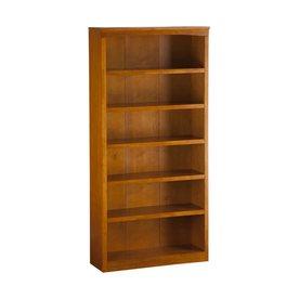 Atlantic Furniture Caramel Latte 36-in W x 72-in H x 12.5-in D 6-Shelf Bookcase